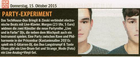 Hamburger Morgenpost / 15. Oktober 2015